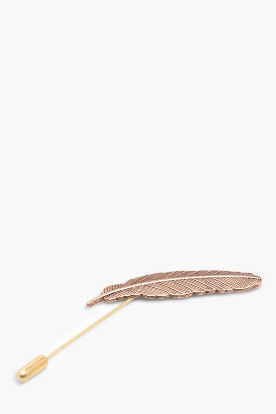 Copper Feather Lapel Pin