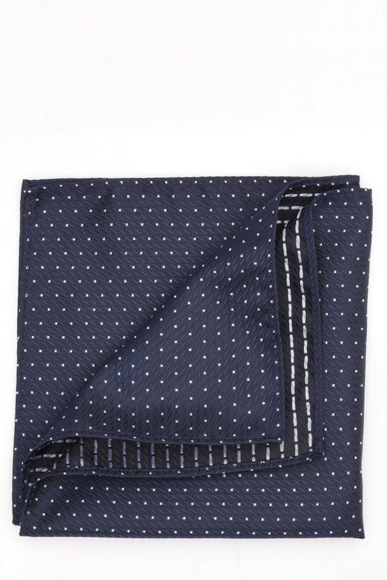 Navy Polkadot Pocket Square