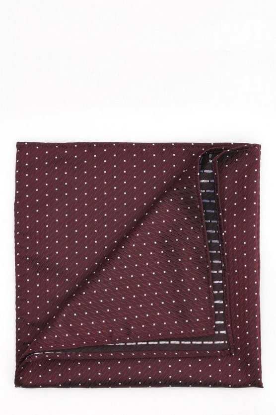 Burgundy Polkadot Pocket Square