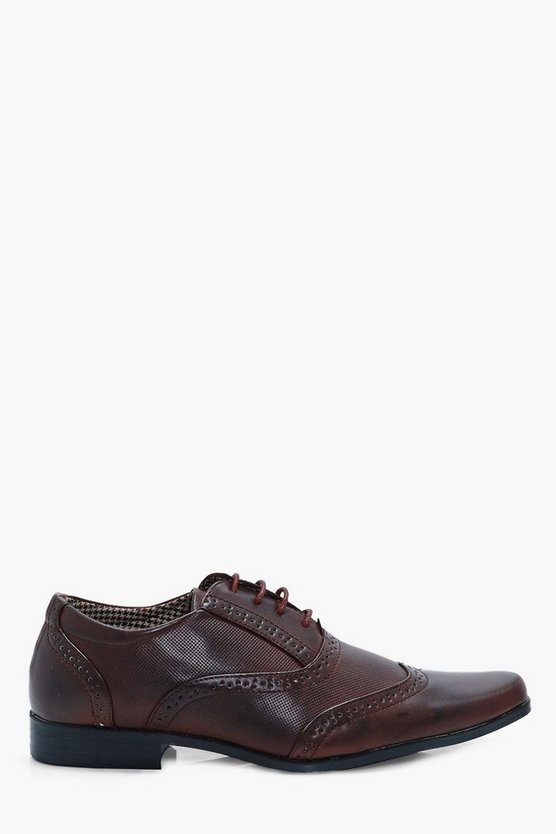 Mens Brown Classic Lace Up Brogues