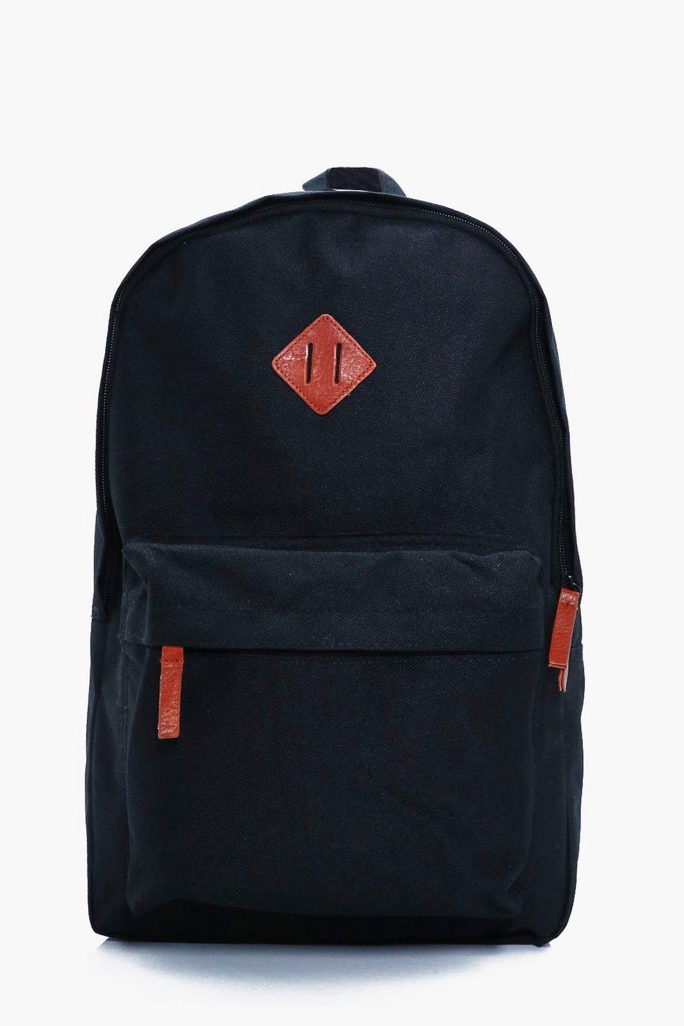 1e2e539204 Plain Canvas Backpack   Boohoo