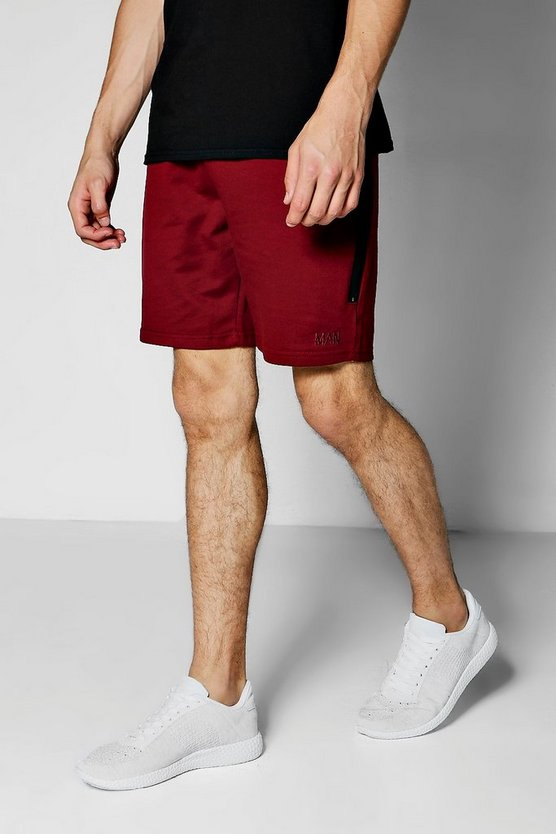 MAN Jersey Shorts With Sports Zip