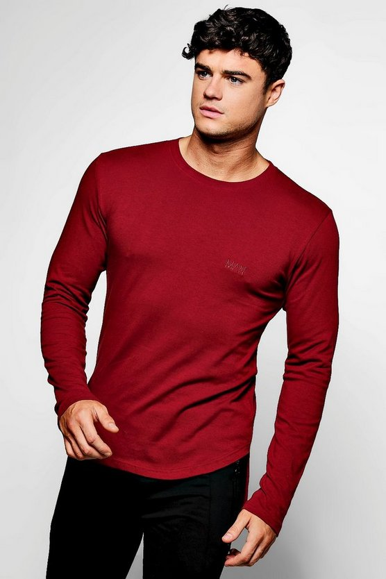 MAN Branded Long Sleeve Skinny Fit T-Shirt