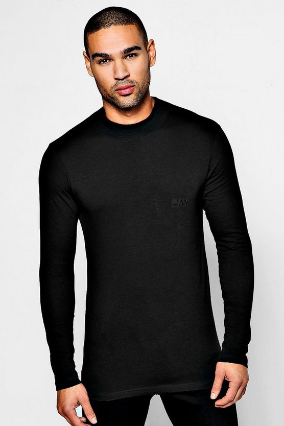 MAN Muscle Fit Turtle Neck T-Shirt