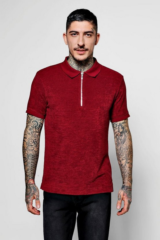 Slim Fit Polo In Towelling