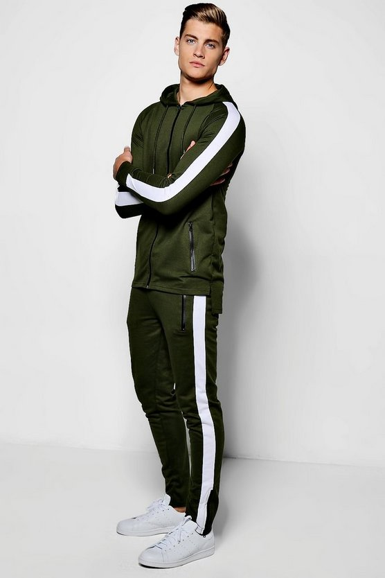 MAN Cut & Sew Muscle Tracksuit