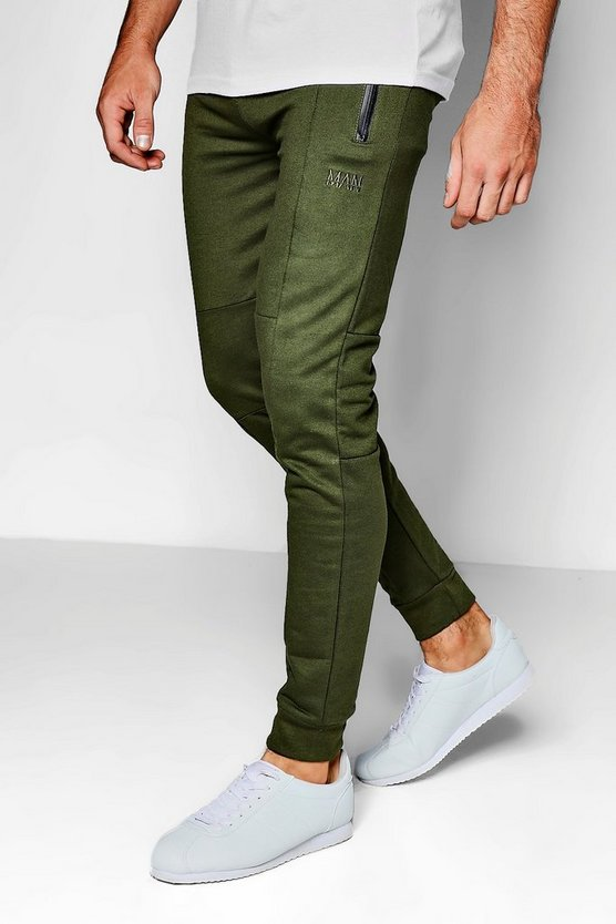 MAN Panelled Skinny Fit Jogger