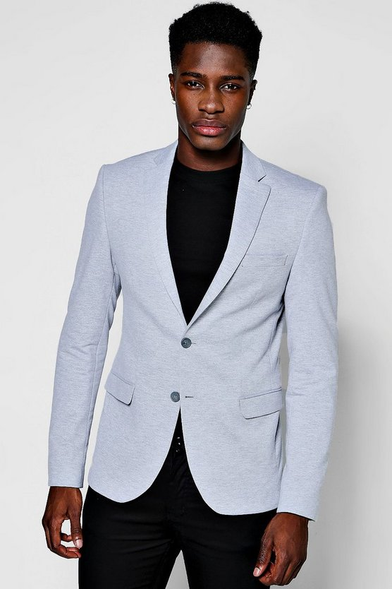 Slim Fit Jersey Blazer