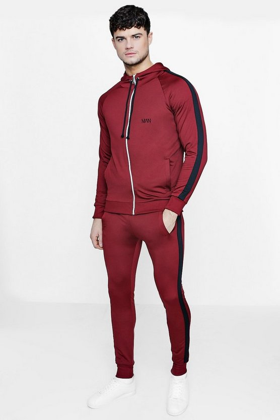 Skinny Fit Man Tracksuit With Side Panels