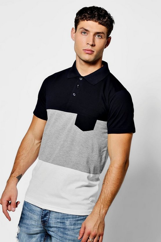 Colour Block Short Sleeve Polo