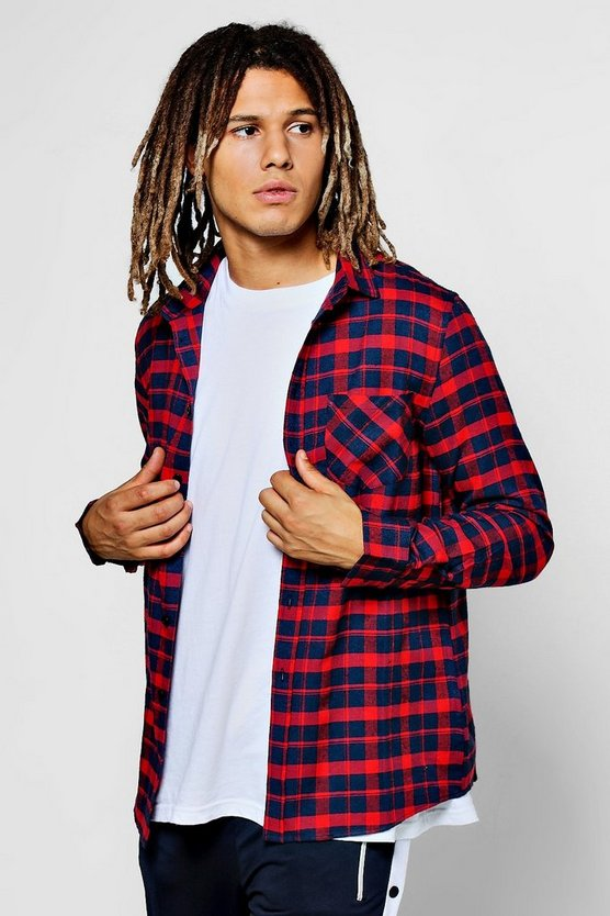 Long Sleeve Red Check Shirt