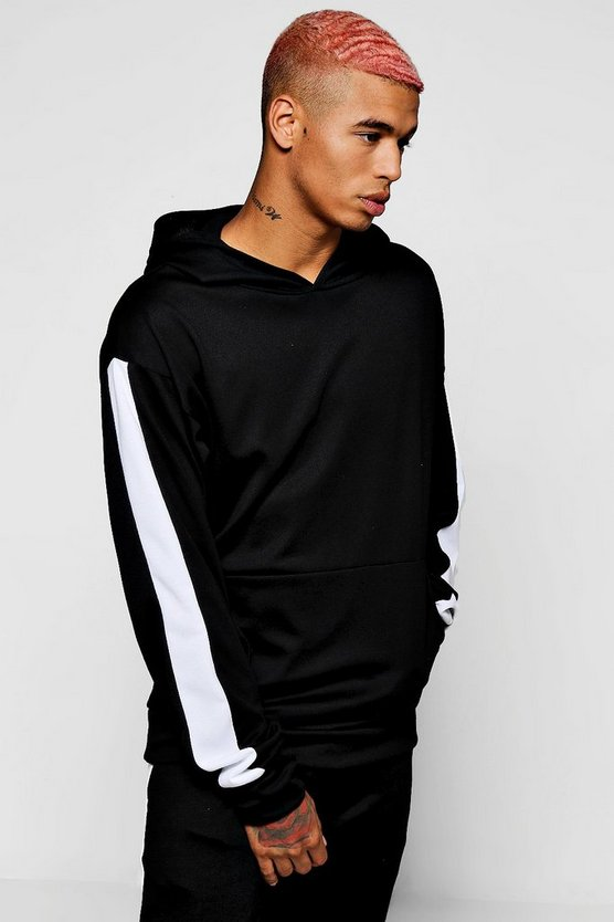 Oversized Hoodie With Side Panel