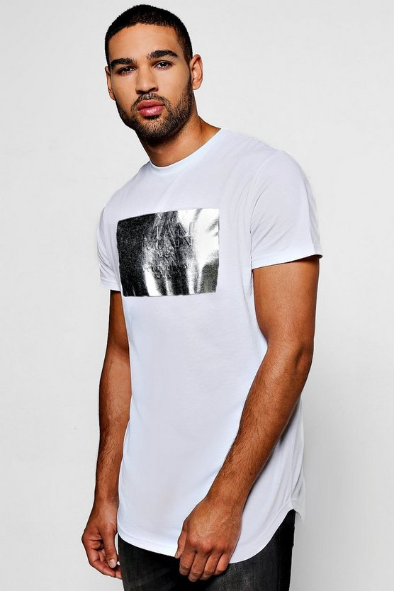 MAN Print T-Shirt With Foil Print