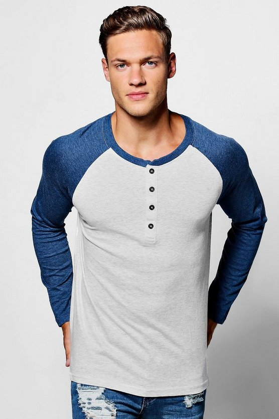 Long Sleeve Contrast Raglan T-Shirt