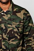 giacca mimetica stile militare con tasche multiple