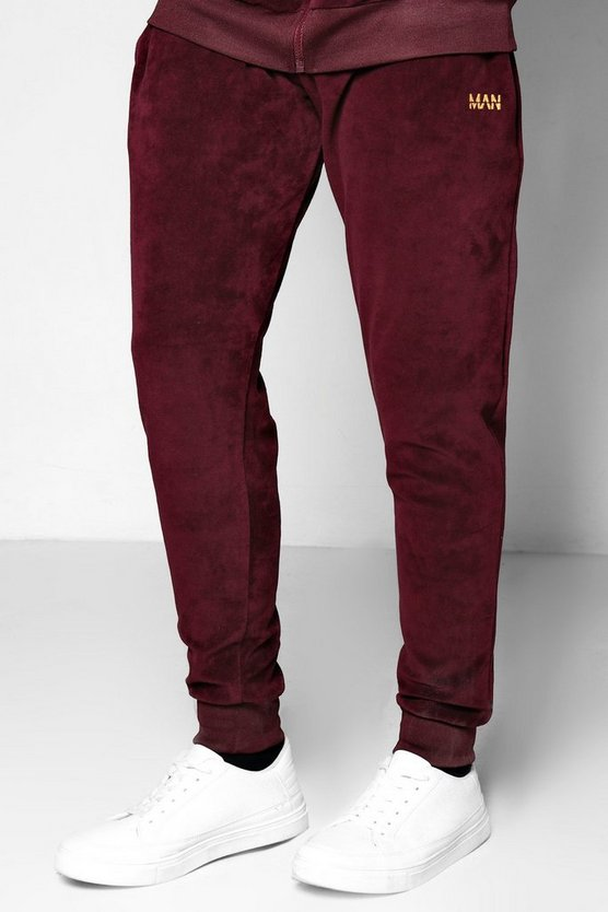 Skinny Fit Velour MAN Joggers