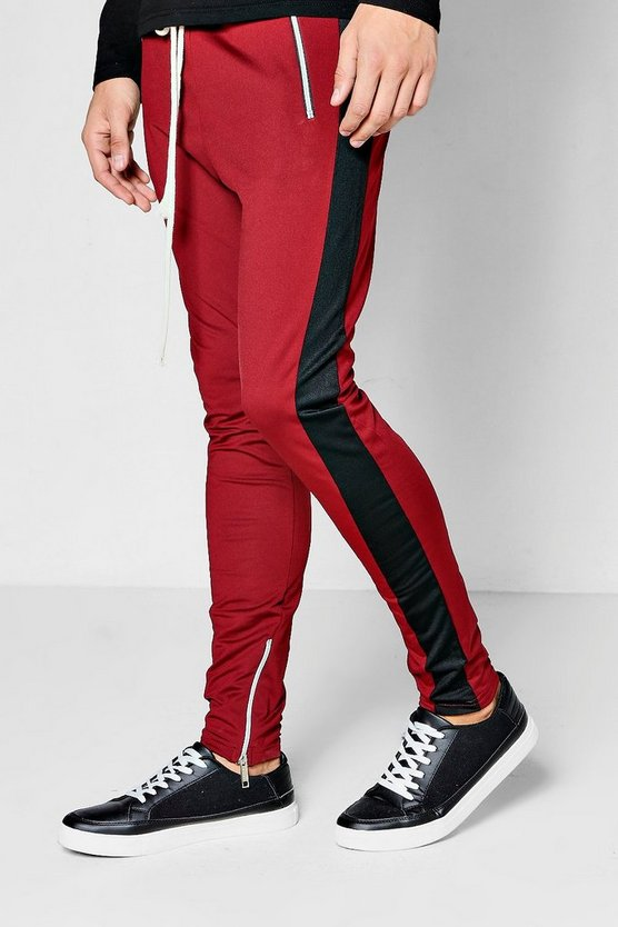 Skinny Fit Tricot Colour Block Jogger