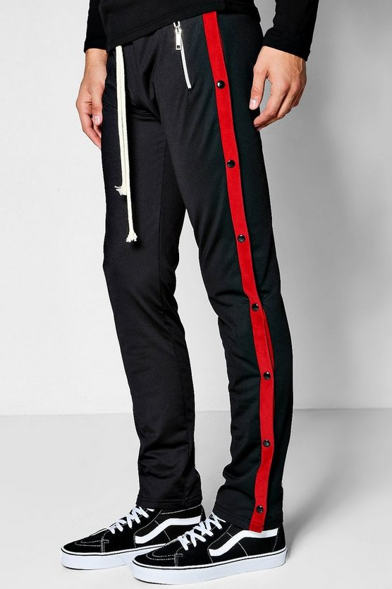 Skinny Fit Tricot Jogger With Popper
