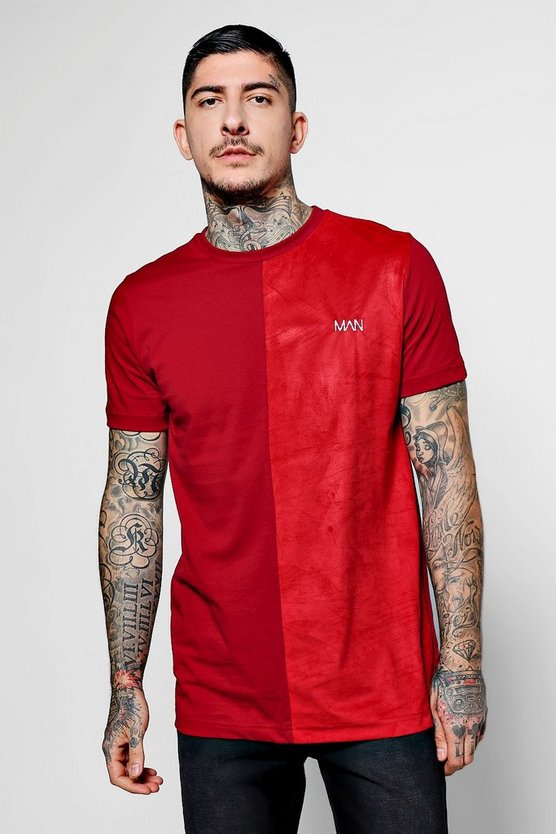 Lux Suede Panel Man T-Shirt