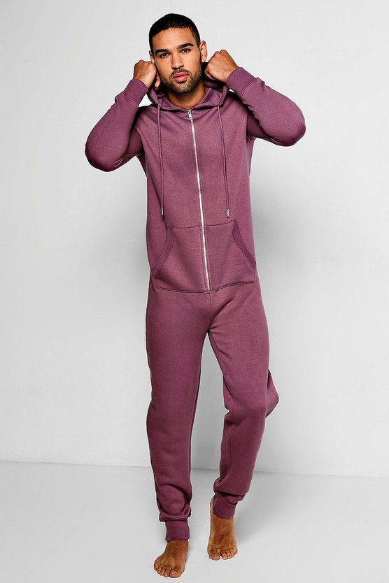 Mauve Slim Fit Onesie