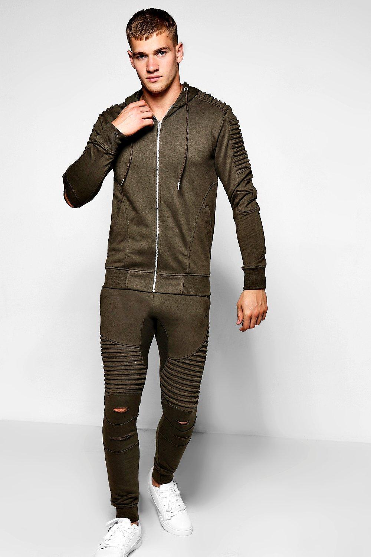 casual shoes best wholesaler buying now Schmal geschnittener Biker-Trainingsanzug | Boohoo