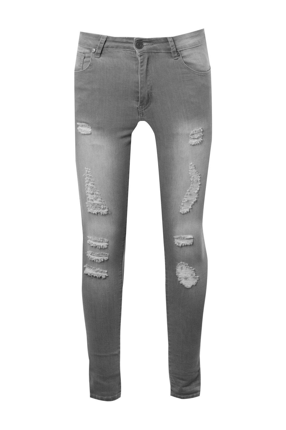 Ripped On Jeans Grey Spray grey Skinny Over All 8wOxAnq4gR