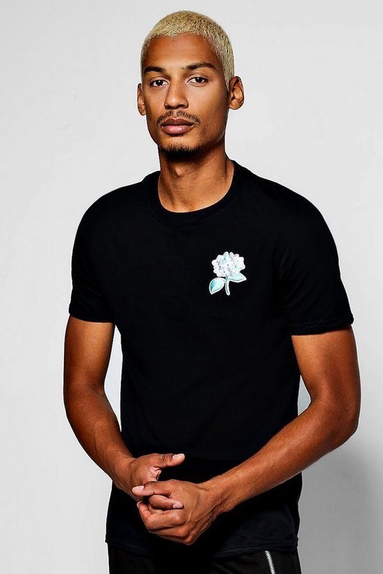 Pastel Floral Embroidered T-Shirt