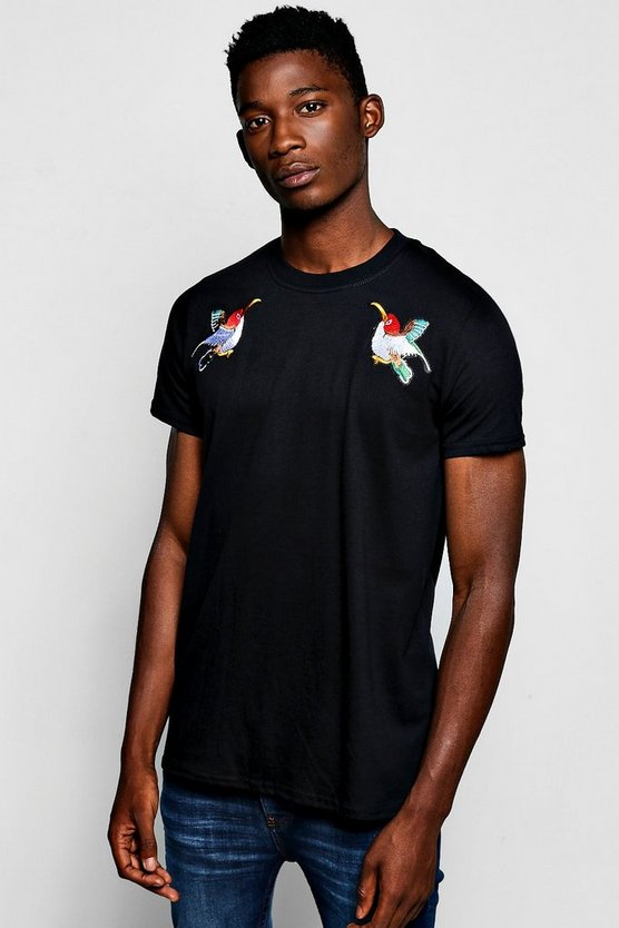 Bird Embroidered T-Shirt