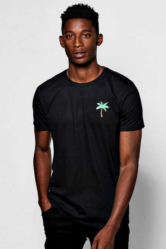 Palm Embroidered T-Shirt