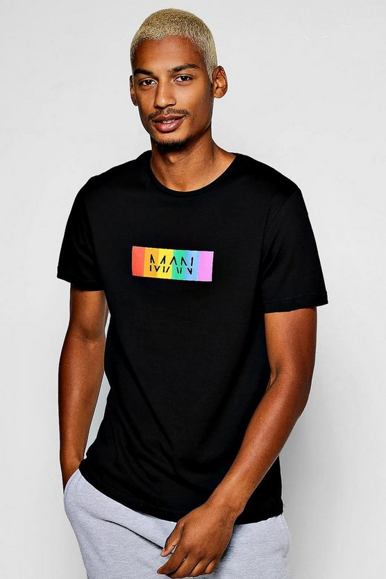 MAN Rainbow Block T-Shirt