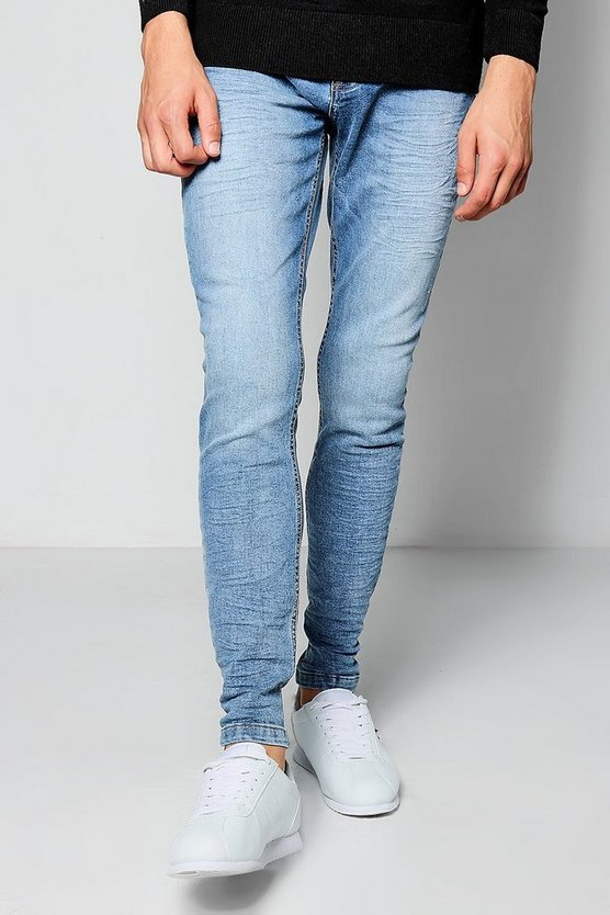 Stretch Skinny Blue Wash Denim Jeans