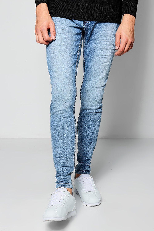 Stretch Wash Skinny blue Jeans Blue Denim BrUaBw