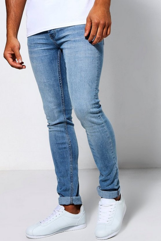 Super Skinny Fit Pale Blue Jeans