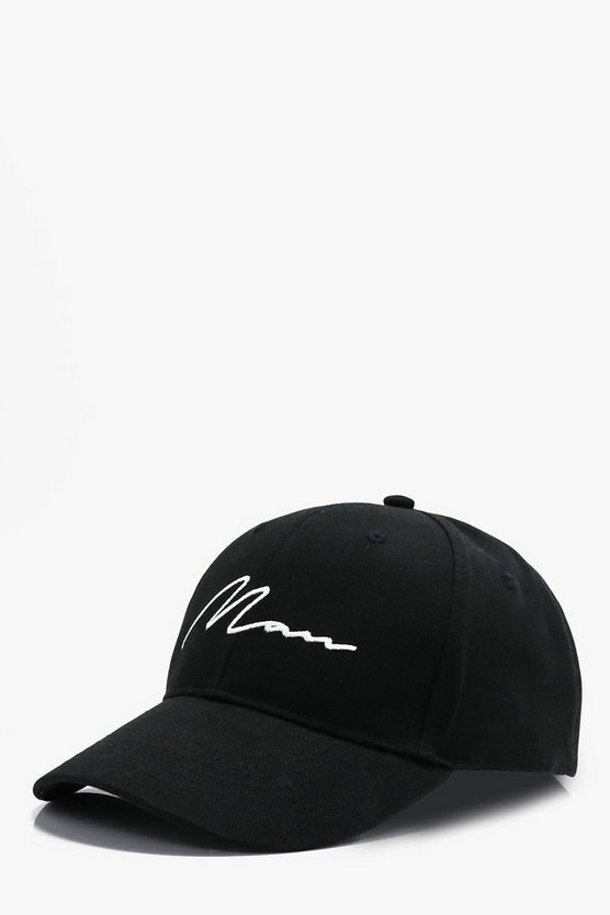 MAN Signature Embroidered Baseball Cap