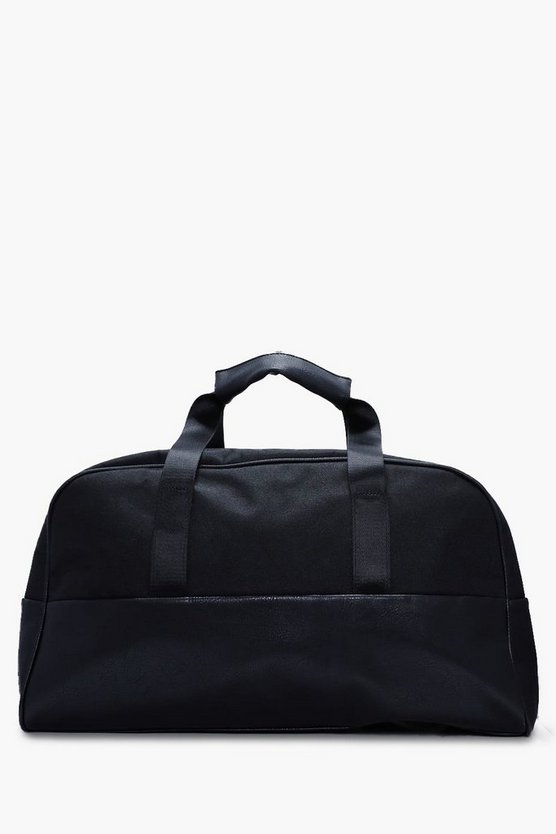 Men's Nylon PU Barrel Bag