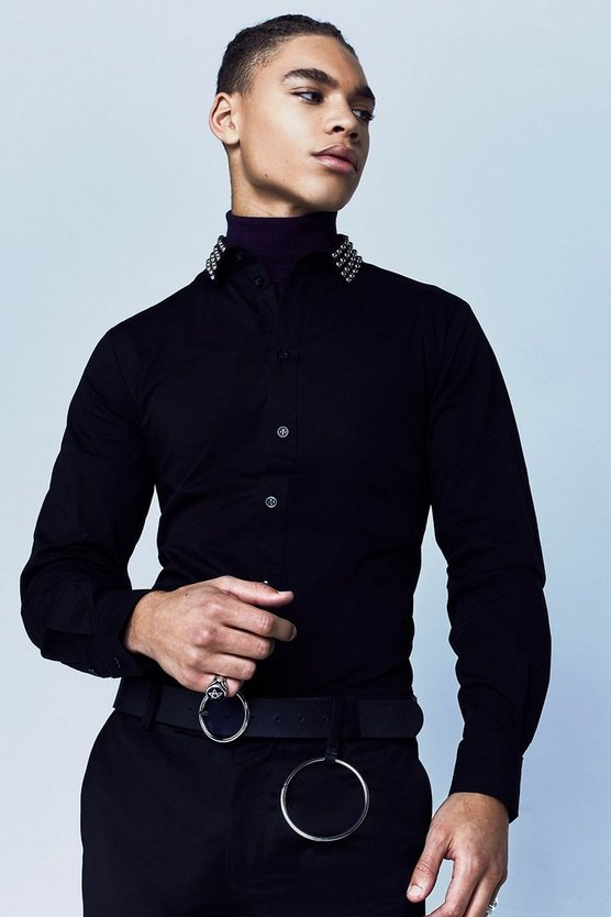 Premium Studded Collar Shirt