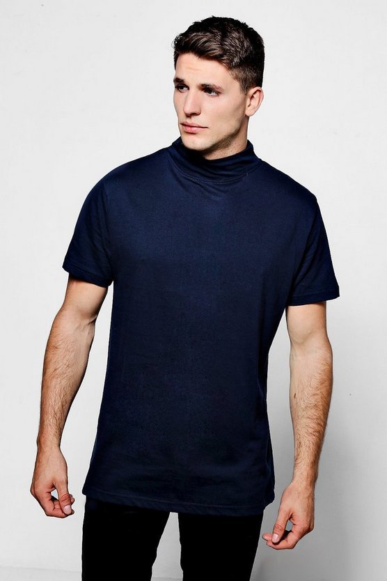 Turtle Neck T-Shirt In Regular Fit