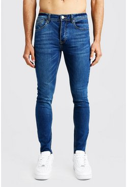Skinny Fit Denim Jeans, Blue, Uomo