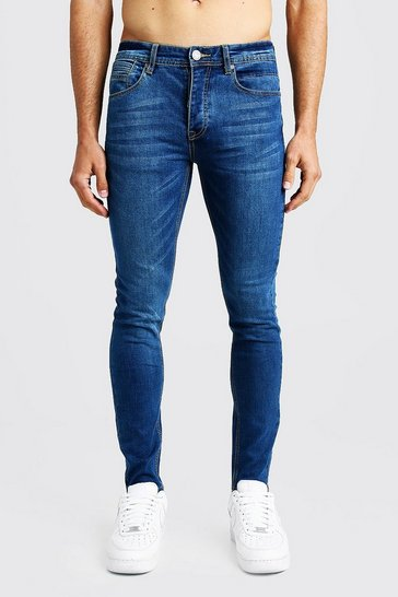 Mens Blue Skinny Fit Denim Jeans