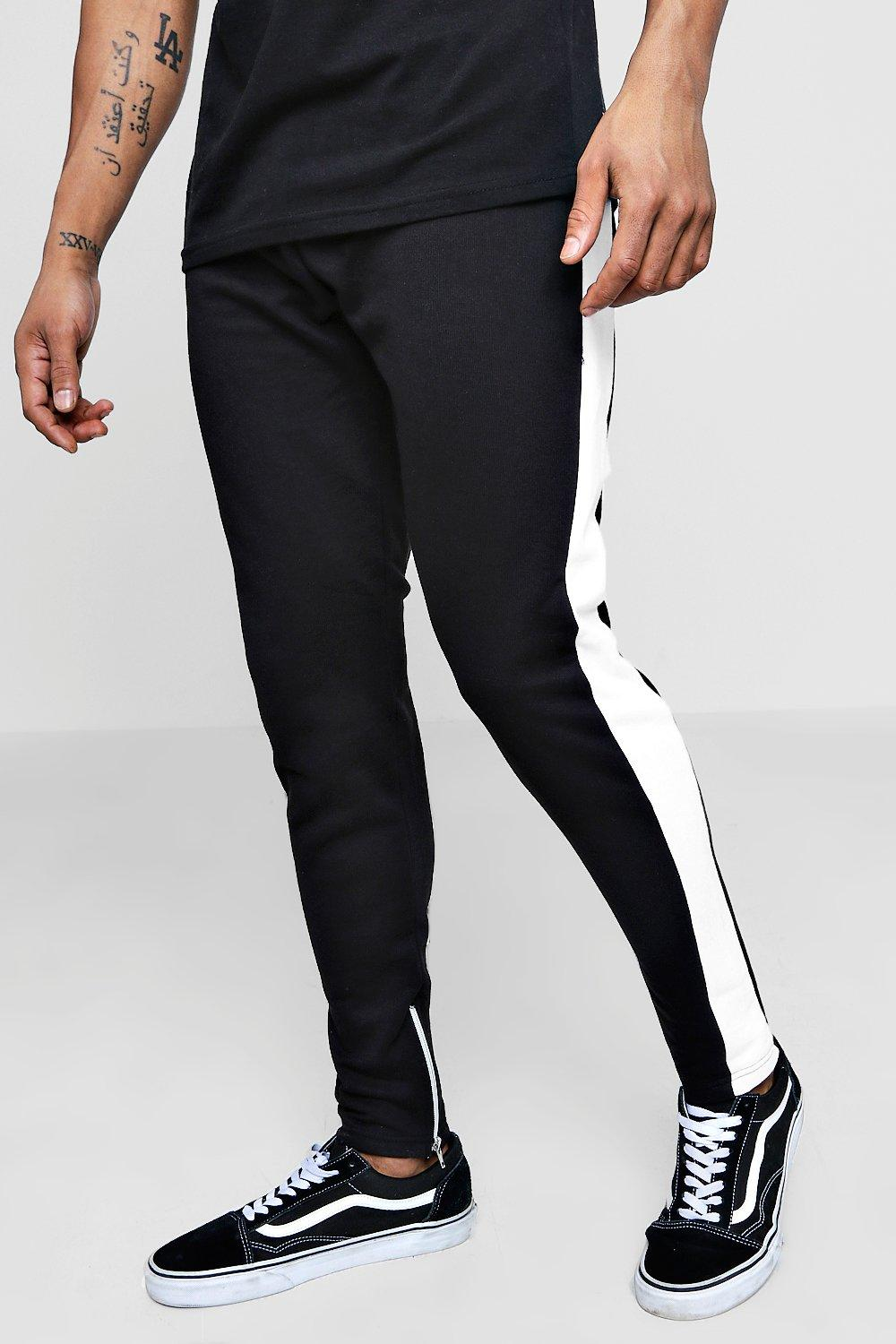 Slim With Panel Fit white Jogger BrwBS4