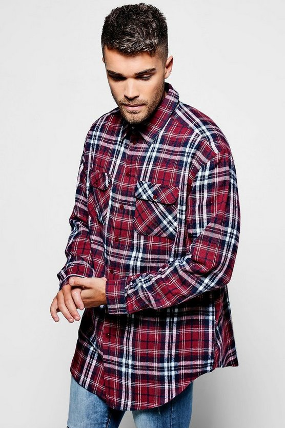 Double Flap Pocket Check Shirt