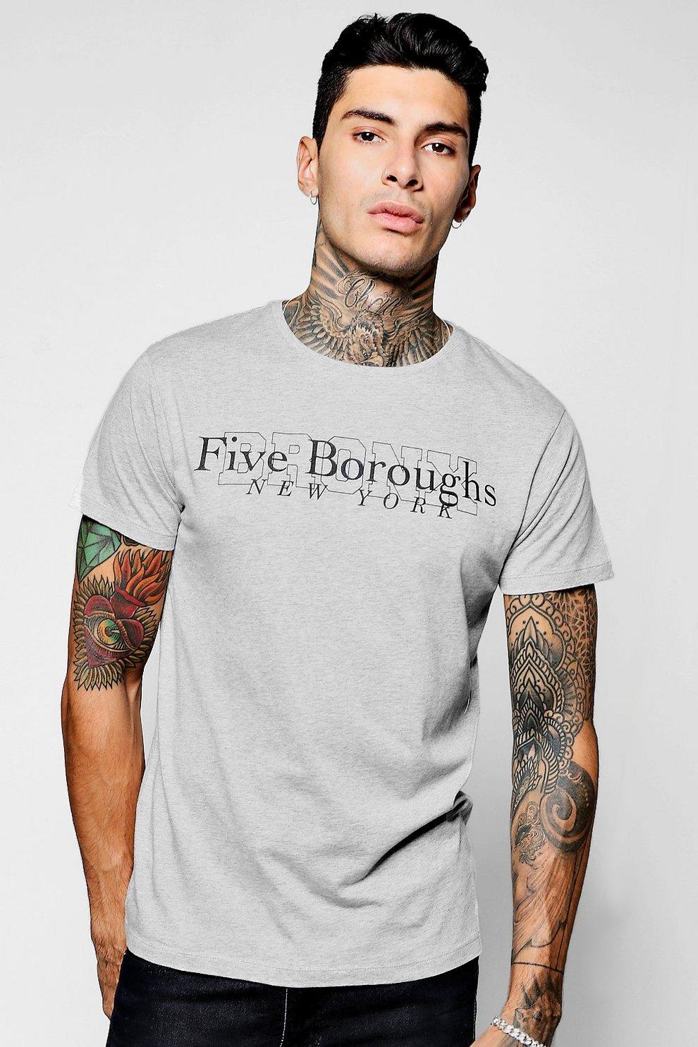 e0de19a23 Bronx NY Print T-Shirt | Boohoo