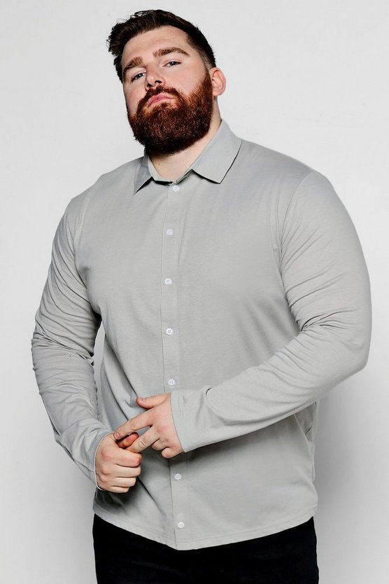 Big And Tall Long Sleeve Jersey Shirt