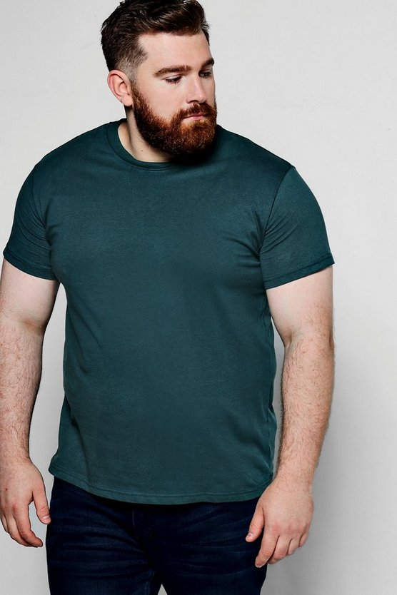 Big And Tall Basic Crew Neck T-Shirt
