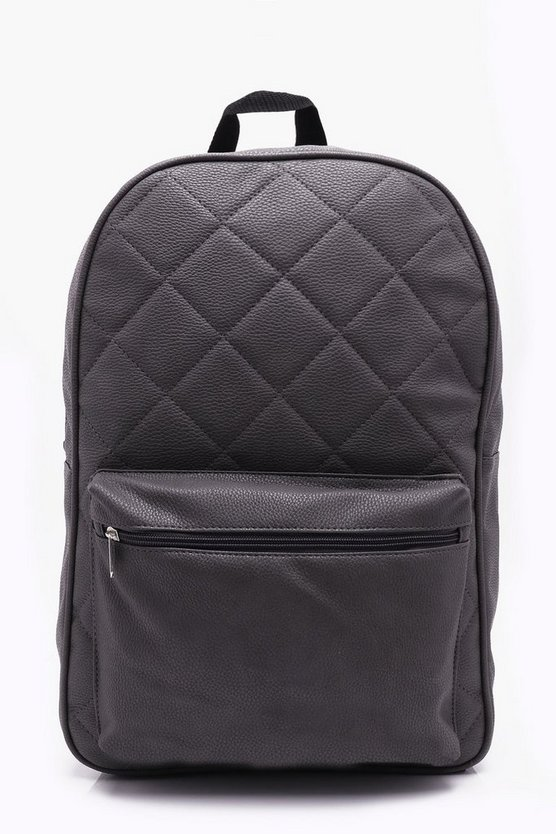 Charcoal Quilted Backpack