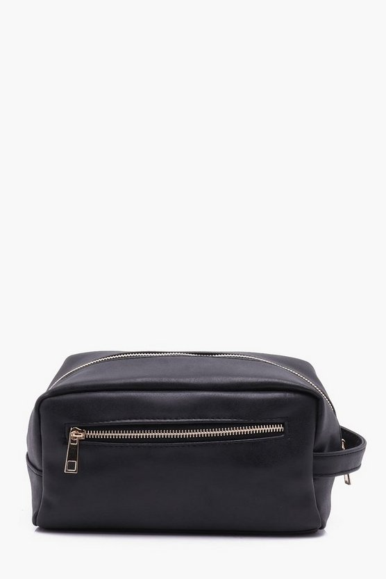 Black PU Washbag