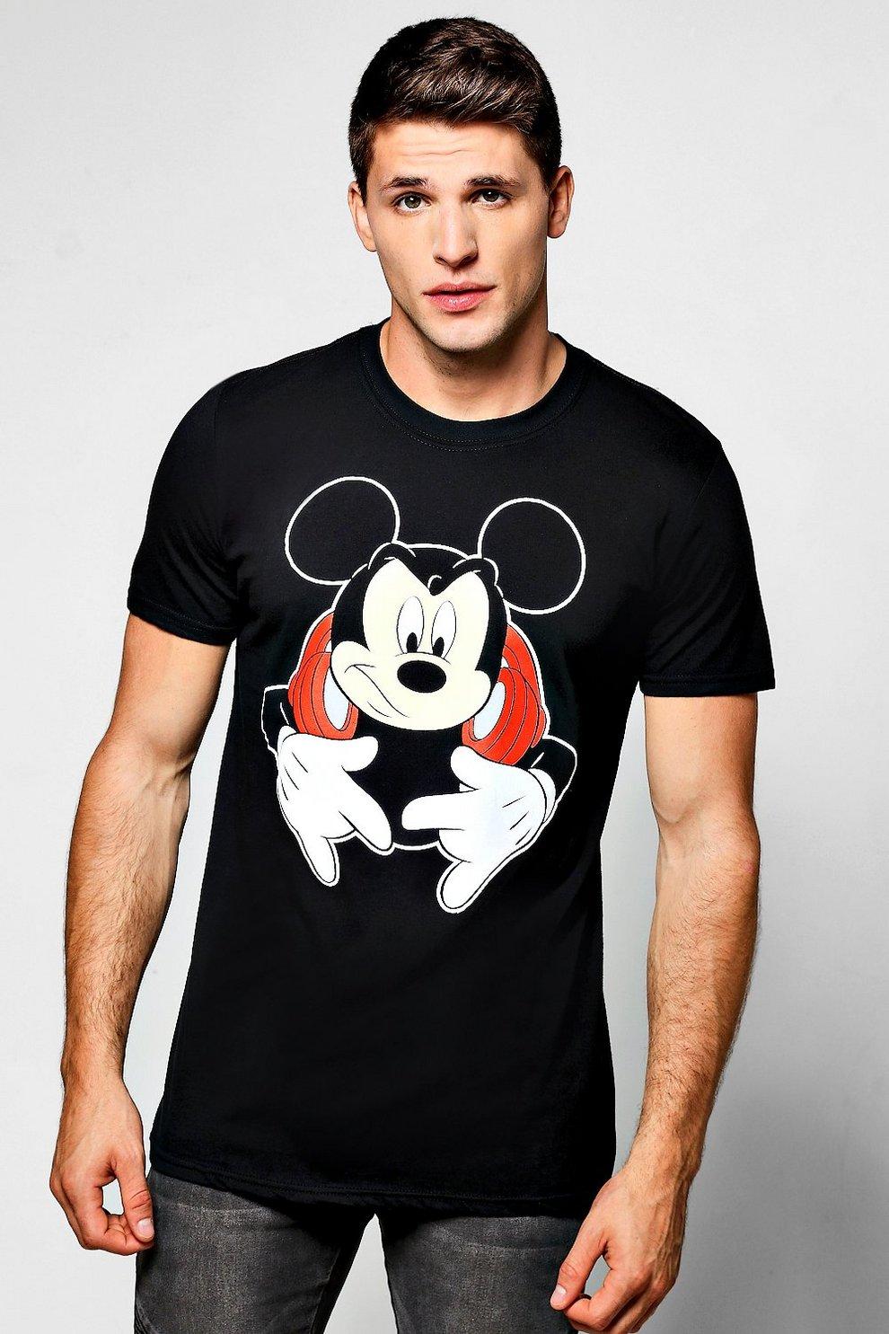 6ff7d3e68 Disney DJ Mickey Mouse T-Shirt   Boohoo