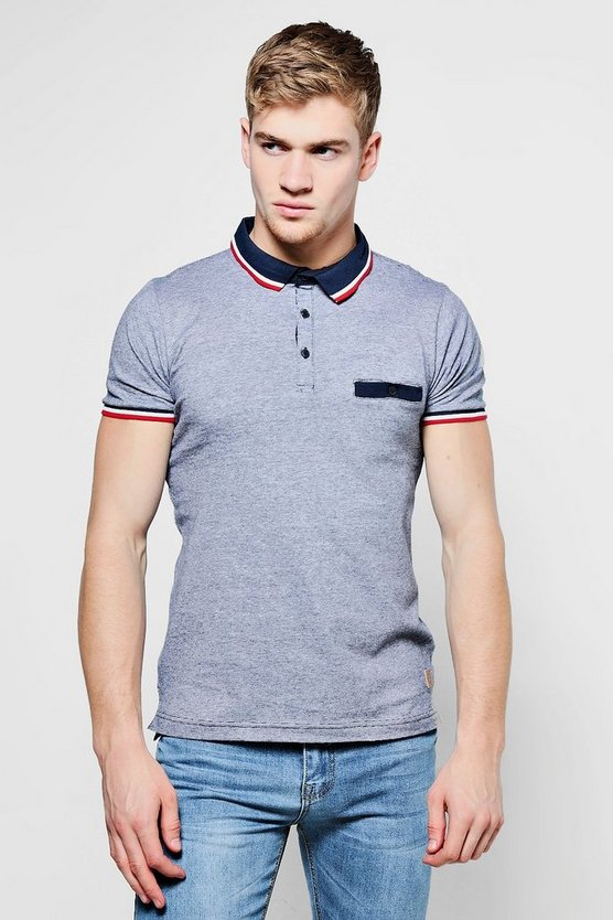 Retro Sports Rib Collar Jersey Polo