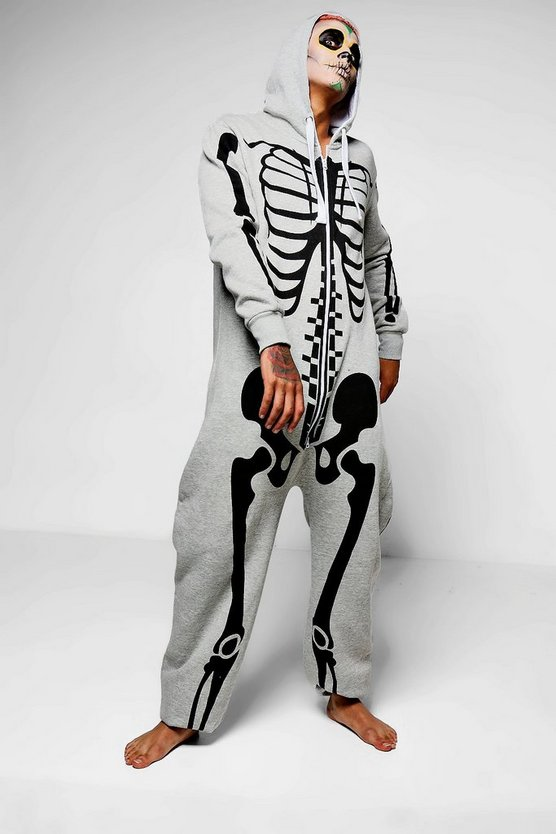 Grey Skeleton Onesies