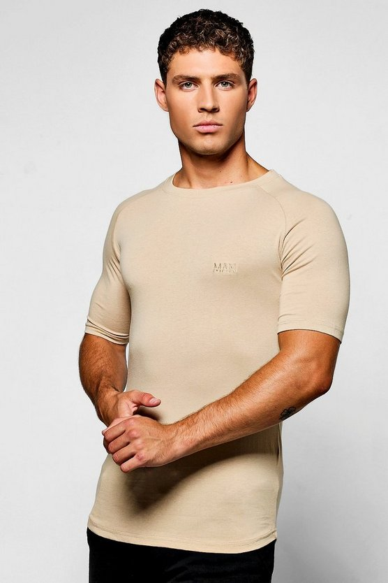 Raglan Muscle Fit MAN Tee With Curve Hem